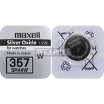 PILE SR44W OXYDE ARGENT 357 1.55 V 165 mAh x1 MAXELL