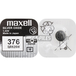 PILE SR626W OXYDE ARGENT 376 1.55V 28mAh x1 MAXELL