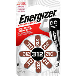 PILES 312 AUDITIVES 1.45V 180mAh ENERGIZER