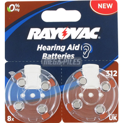 PILES 312 AUDITIVES 1.4V 180mAh RAYOVAC