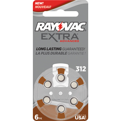 PILES 312 AUDITIVES EXTRA 1.4V 180mAh RAYOVAC