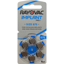 PILES 675 AUDITIVES COCHLEAR IMPLANT PRO 1.45V x6 RAYOVAC