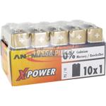 PILES 6LR61 X-POWER ALCALINES 9V 550mAh x10