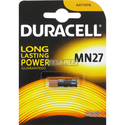 PILES MN27 ALCALINES 12V 20mAh A27 x1 DURACELL