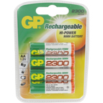 PILES AA RECHARGEABLES HR6 NiMH 1.2V 2300mAh x4 GP