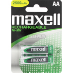 PILES AA RECHARGEABLES LR6 NiMH 1.2V 2300mAh x2 MAXELL