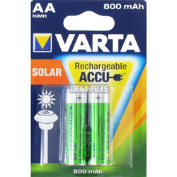 PILES AA RECHARGEABLES Solar HR6 NiMH 1.2V 800mAh Ready to Use BL2
