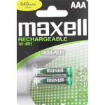 PILES AAA RECHARGEABLES NiMH 840mAh 1.2V x2 MAXELL