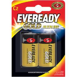 Piles alcalines LR14 Eveready Gold C 1.5v MN1400 BL2