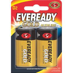 Piles alcalines LR20 Eveready Gold D 1.5v MN1300 BL2