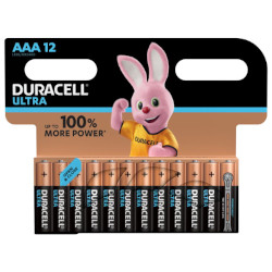 Piles alcalines Ultra LR3 AAA MX2400 BL12 DURACELL