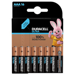 Piles alcalines Ultra LR3 AAA MX2400 BL16 DURACELL