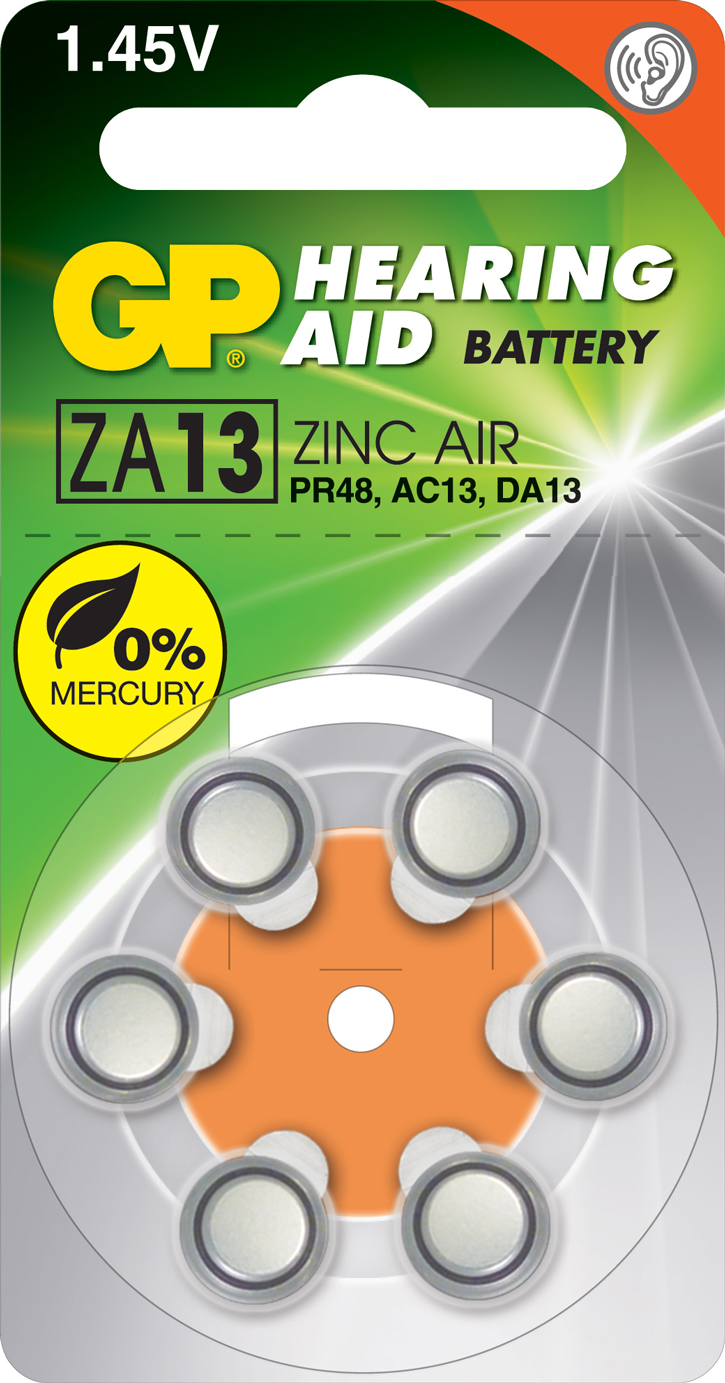 PILES AUDITIVES ZA13 1.4V 230mAh