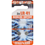 PILES BOUTON ALCALINE LR41 1.5V x2 MAXELL
