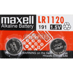 PILES BOUTON ALCALINES LR1120 1.5V x2 MAXELL