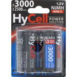 PILES HR20 RECHARGEABLES D NiMH HyCell 1.2V 2500mAh x2
