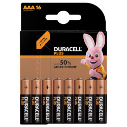 Piles LR03 alcaline Plus Power AAA MN2400 1.5V BL16 DURACELL
