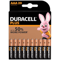 Piles LR03 alcaline Plus Power AAA MN2400 1.5V BL20 DURACELL