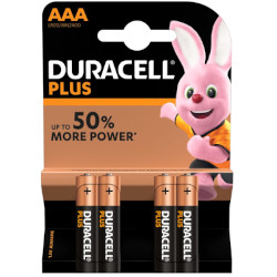 Piles LR03 alcaline Plus Power AAA MN2400 1.5V BL4 DURACELL