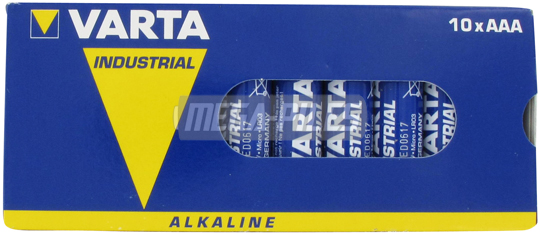 PILES LR03 ALCALINES INDUSTRIAL AAA 1.50V x10