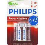 PILES LR03 ALCALINES AAA 1.50V x6 PHILIPS