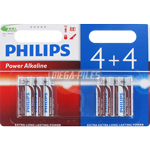 PILES LR03 ALCALINES AAA POWER 1.50V x8 PHILIPS