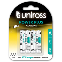 PILES LR03 ALCALINES POWER PLUS AAA 1.50V x4