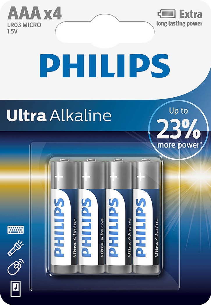 PILES LR03 ALCALINES ULTRA AAA 1.50V BL4