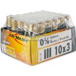 PILES LR03 ALCALINES X-POWER AAA 1.50V 1300mAh x30