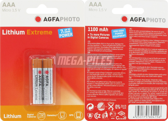PILES AAA LITHIUM MICRO 1.50V x2