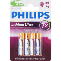 PILES AAA LITHIUM ULTRA 1.50V x4