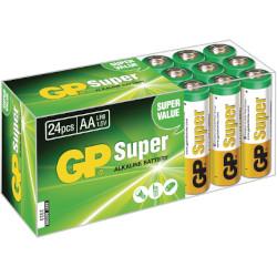 Piles LR06 AA super alcalinas 1.5V boite de 24