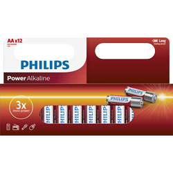 PILES LR06 ALCALINES AA POWER 1.50V BL12 PHILIPS