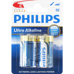 PILES LR14 1.5V ULTRA ALCALINES C x2 PHILIPS