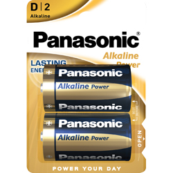 PILES LR20 D ALCALINES BRONZE POWER BL2 PANASONIC