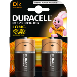 PILES LR20 D ALCALINES DURALOCK PLUS POWER x2