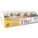 PILES LR20 X-POWER D 18000mAh ALCALINES (20-pack)