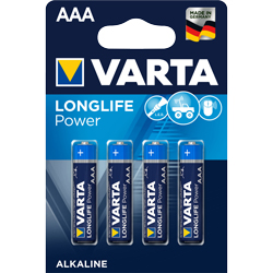 PILES LR3 ALCALINES Longlife Power AAA 1.5V BL4