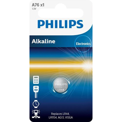 PILES LR44 ALCALINES A76 1.5V PHILIPS