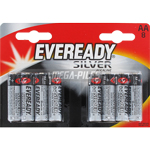 PILES LR6 AA EVEREADY ALCALINES 1.50V x8 EVEREADY