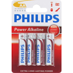 PILES LR6 AA POWER ALCALINES 1.50V x4 PHILIPS