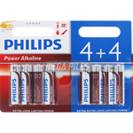 PILES LR6 AA POWER ALCALINES 1.50V x8 PHILIPS