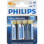 PILES LR6 AA ULTRA ALCALINES 1.50V x4 PHILIPS