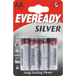 PILES R6 SALINES AA SILVER 1.50V x4 EVEREADY