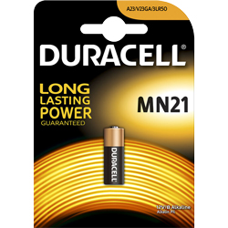 PILES MN21/23 ALCALINES 23A 12V x1 DURACELL