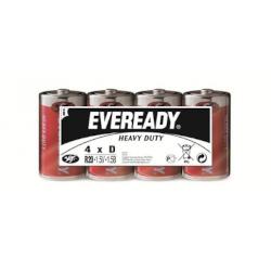 Piles R20 salines D Super Heavy Duty 1.50V 4-Family-Pack