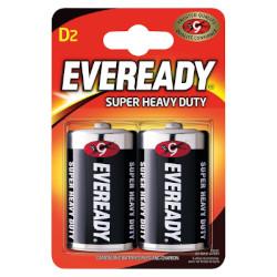 Piles R20 salines D Super Heavy Duty 1.50V BL2