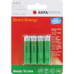 PILES RECHARGEABLES AGFA PHOTO NiMH AAA HR03 1.2V 900mAh x4