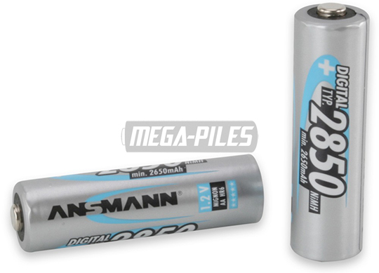 PILES RECHARGEABLES DIGITAL NiMH AA HR6 1.2V 2650mAh x1