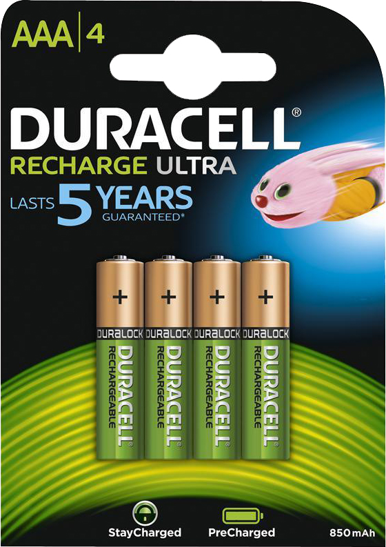 PILES RECHARGEABLES DURACELL NiMH AAA HR03 1.2V 800mAh x4
